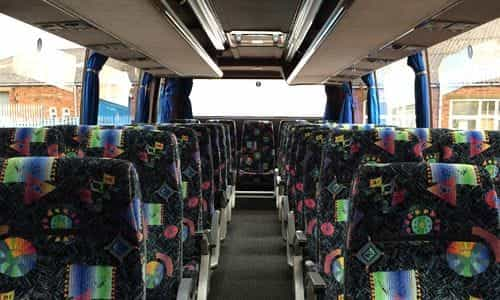 Interior of our 35 seater coach