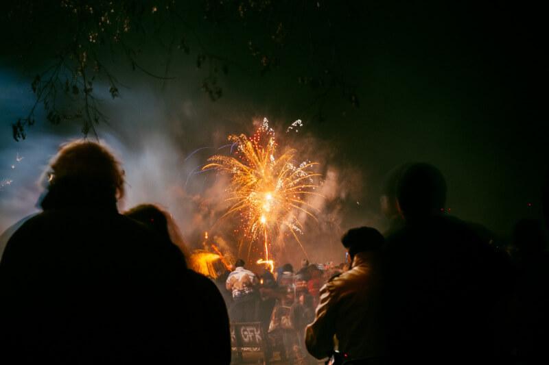 Crowd fireworks