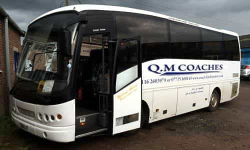 White 35 seater coach