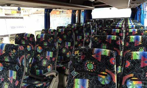 Inside 35 seater coach